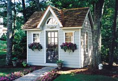 This little shed would be perfect for my back yard.