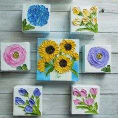 Items similar to Custom Small and Tulip Impasto Oil Painting, Mix and Match Minimalist Paintings for Wall, Bridesmaid Gifts, Nursery on Etsy Autumn Painting, Texture Painting, Painting & Drawing, Knife Painting, Painting Canvas, Painting Tips, Painting Techniques, Small Canvas Art, Mini Canvas Art