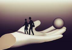Ein Paar geht auf einer geöffneten Hand spazieren Clipart, Character Shoes, Adobe, Dance Shoes, Couple, Pretty Pictures, Nice Asses, Dancing Shoes, Cob Loaf