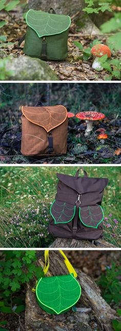 LeaflingBags Handmade Waterproof Leaf Bags, Backpacks