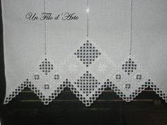 Hardanger Embroidery, Folk Embroidery, Embroidery Patterns, Ancient Persia, Types Of Embroidery, Satin Stitch, Needful Things, White Fabrics, Window Coverings