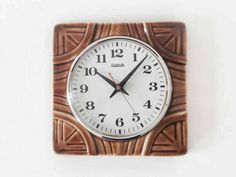 Vintage German Ceramic Wall Clock from Elektrik by oppning on Etsy €60 https://www.etsy.com/listing/505788374/