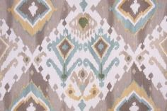 Mill Creek Alessandro - Paramount Printed Cotton Drapery Fabric in Glacier $9.95…