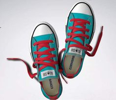 converse #red #teal