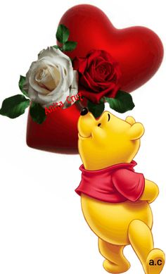 Beautiful Love Images, Love You Images, Beautiful Rose Flowers, Cute Winnie The Pooh, Winnie The Pooh Friends, Love You Gif, Cute Love Gif, Assalamualaikum Image, Love Wallpaper Backgrounds