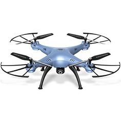 Cheerwing Syma X5HW-I Wifi FPV Drone with HD Camera Live Video Altitude Hold Function 2.4Ghz 4CH RC Quadcopter, Blue *** Details can be found by clicking on the image.