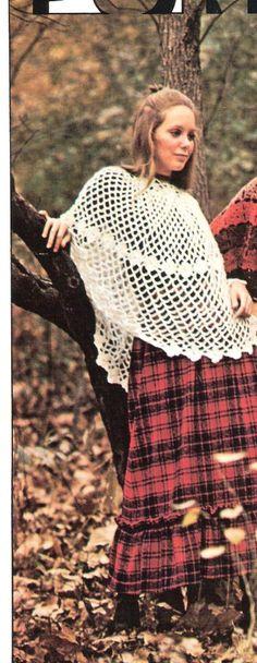 PONCHO  Crochet Poncho Pattern  COUNTRY MISS by suerock on Etsy, $3.99