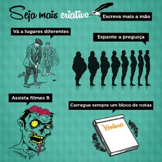 Dicas da Ventura para ter dias mais criativos Comic Books, Comics, Movie Posters, Commonplace Book, Creativity, Movies, Tips, Comic Strips, Comic Book