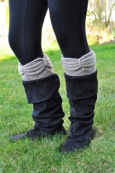 Aurora Boot Cuffs pattern from KnitPicks.com
