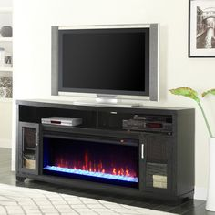 Inspiring Electric Fireplace Tv Stand Design Best Ideas Family Room - Page 4 of 33 Make A Tv Stand, Electric Fireplace Tv Stand, Electric Fireplaces, Tv Stand With Fireplace, Stone Fireplaces, Living Tv, Living Room, Apartment Living, Tv Stand And Entertainment Center