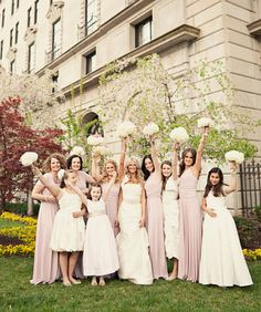 Check out this beautiful bridal party wearing the Dessy Long Twist Wrap Dress in Chalk Pink! They look awesome! http://www.dessy.com/accessories/twist-wrap-dress-long-combo/#.T7VZmkVYsz4