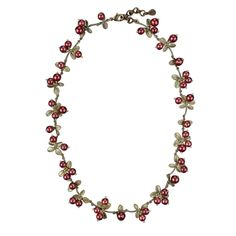Cranberry Cluster Necklace