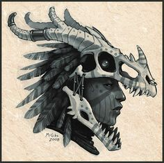 How to Make a Dragon Skull - Dragon_Headdress_by_McGibs.jpg You are in the right place about How to Make a Dragon Skull Tattoo De - Character Concept, Character Art, Concept Art, Larp, Tiamat Dragon, Make A Dragon, Dragon Girl, Dragon Costume, Skull Mask