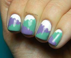 Neverland Nail Blog: Cloud and Color-Blocking Hybrid Mani!