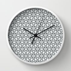 jewel Wall Clock #jewel,#clock,#decor,#home,#pearl,#strass,#silver