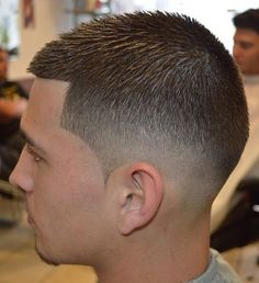 Stylish medium fade crewcut... More