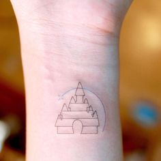 Cute And Tiny Disney Tattoo Ideas For Your Inspiration; Cute And Tiny Disney Tattoo Ideas; Tattoo Line, Shape Tattoo, Fine Line Tattoos, Diy Tattoo, Mini Tattoos, New Tattoos, Tatoos, Disney Tattoos Small, Small Tattoos
