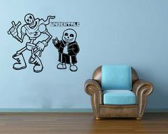 Sans And Papyrus Skeleton Brother Undertale WALL VINYL STICKER MURAL ART DECAL  #GreenStarUSA #Contemporary