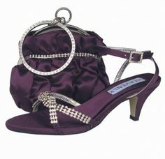 Striking aubergine satin and diamante low heel strappy evening sandals. See our fantastic range of ladies sandals, matching shoes and bags online. Evening Sandals, Evening Shoes, Blue Satin Shoes, Wedding Shoes, Wedding Stuff, Wedding Dresses, Outfit Combinations, Online Bags, Strappy Sandals