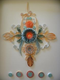 Beautiful Quilled Design on her Profile page - by: Eileen Walters - www.facebook.com/walters.eileen