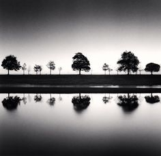 Michael Kenna, Reflecting Trees, Saint Valery sur Somme, France, 2009