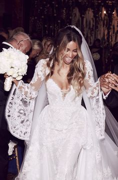"""femmequeens: """" Ciara wore a custom Roberto Cavalli wedding gown @ her nuptials to Russell Wilson today! """""""
