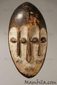 Máscara Africana. Etnia: Lega. Origen: Congo.
