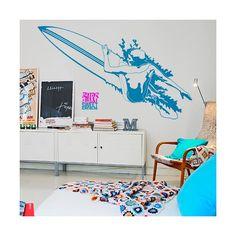Dale un toque surfero a las paredes de tu casa con este vinilo decorativo / Give a surfer touch to your home walls with this decorative vinyl