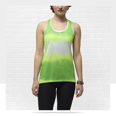We love this Boxy Women's Running Tank Top from Nike to go with our lime FitSeries headphones. #Fit4Life