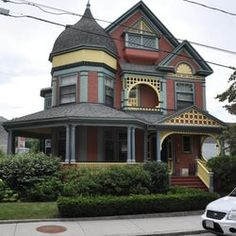 The House at 12 Vernon Street in Brookline, Massachusetts is one of the town's most elaborate Queen Anne Victorians. The 2-1/2 story wood frame house was designed by Tristram Griffin and built in 1890 for William Boynton, a Boston flour merchant. It has classic Queen Anne elements, including ...