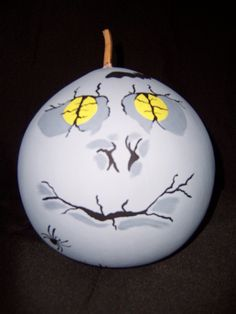 A Halloween gourd named Moon Eyes