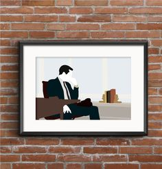 Mad Men Poster  Don Draper Print by RizzaAndCo on Etsy