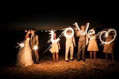 light painting de mariage