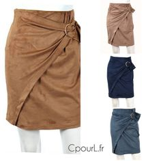 jupe suédine - jupe nouée boucle - jupe portefeuille - Cpourl.fr Skirts, Fashion, Trendy Outfits, Spring Summer Fashion, Fall Winter, Fashion Ideas, Wallet, Moda, Skirt
