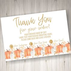 PRINTED Thank you Cards for Small Business 60 count by HeathersHello on Etsy Print Thank You Cards, Business Thank You Cards, Thank You Tags, Happy Mail, Im Happy, Business Stickers, The Costumer, Card Stock, Count