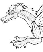 Dragon www.PheeMcFaddell.com  Page with all kinds of fanciful, holiday, etc. color pages and crafts.