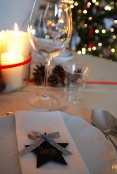 Fiore di maggio: Dove mi siedo a tavola?? segnaposto natalizio stella