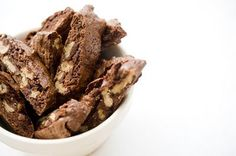 Sjokolade- og valnøttbiscotti
