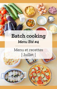 Batch cooking Summer # 4 - Batch cooking (menu and recipes) for the week of July 22 to 2019 - Chicken Lunch Recipes, Easy Salad Recipes, Easy Healthy Recipes, Crockpot Recipes, Vegetarian Recipes, Easy Meals, Dinner Recipes, Menus Healthy, Healthy Breakfast Recipes