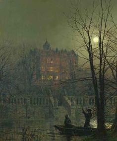 British Paintings: John Atkinson Grimshaw - Under the Moonbeams (hall)