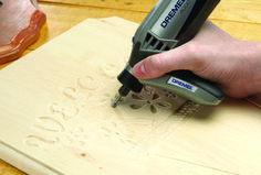 Dremel 4000:  engraving wood