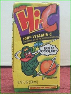 25 Foods You'll Never Be Able To Eat Again (Pictured: Hi-C Ecto Cooler)