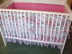 Dainty Blossoms in Aqua and Pink Crib Set by butterbeansboutique, $439.00
