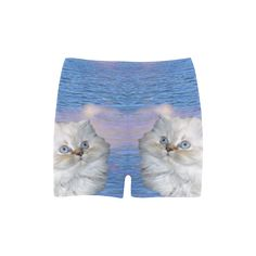 Cat and Water Skinny Shorts