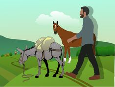 The Horse and The Donkey - moral stories for kids - Liz Story Planet English Moral Stories, Moral Stories For Kids, Popular Short Stories, Horse Story, The Donkey, Help Teaching, Morals, Kitchen Design, Books