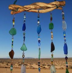 DIY Sea Glass & Drift Wood 3D Suncatcher/Wind Chime