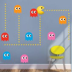 Atari Characters Wall Decals (n53) SIZES: (Tall X Wide In Inches)