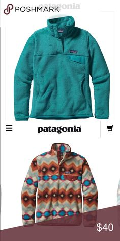 ISO Patagonia re-tool pullover or Synchilla Any color, size m just looking for a reasonable price!! Have a Patagonia re-tool zip hoodie to trade pictured size m Patagonia Sweaters