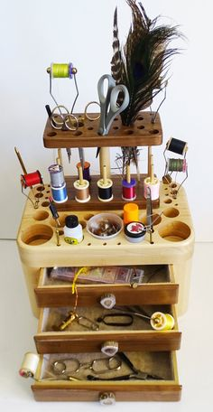 Fly Tying Tool Caddy with 3 Drawers Tool Caddy Fly Fishing
