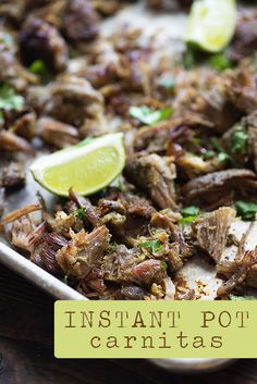 You're going to love this easy Instant Pot recipe! These pressure cooker car… - Instant-pot. Pork Recipes, Mexican Food Recipes, Crockpot Recipes, Cooking Recipes, Dinner Recipes, Recipies, Healthy Instapot Recipes, Mexican Entrees, Cooking Fish